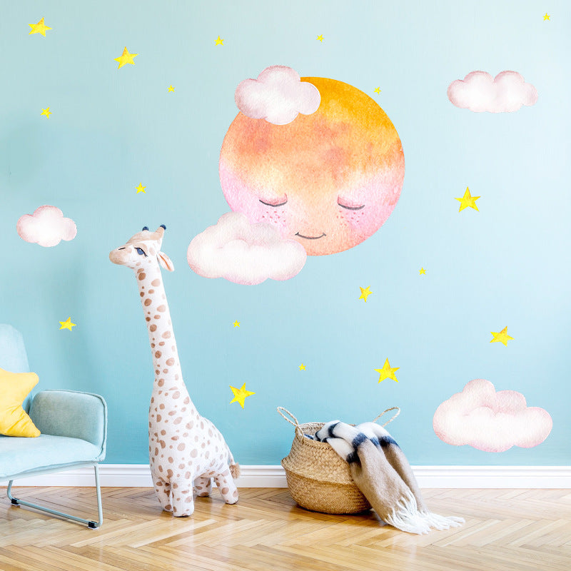 Moon Clouds Wall Sticker (2 Sets)