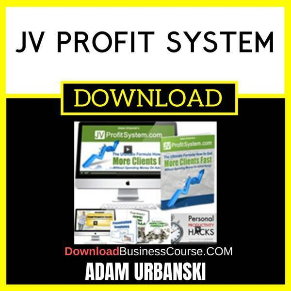 Adam Urbanski Jv Profit System FREE DOWNLOAD iDownloadProgram