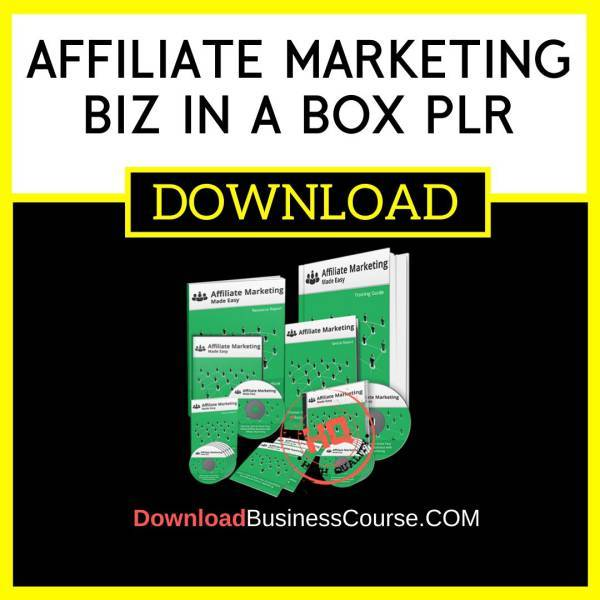 Affiliate Marketing Biz In A Box Plr FREE DOWNLOAD iDownloadProgram
