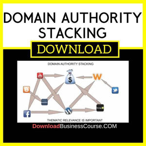 Domain Authority Stacking FREE DOWNLOAD iDownloadProgram