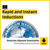 American Hypnosis Association - Rapid and Instant Inductions.