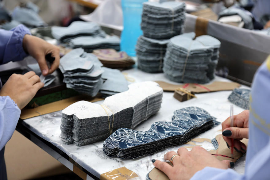 shoes being produced