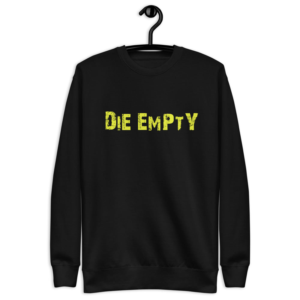 Die Empty Unisex Fleece Pullover (yellow design)
