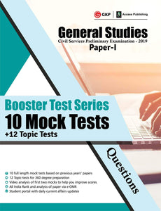 Booster Test Series 10 Mock Tests + 12 Topic Tests (General Studies Paper-I)-2019