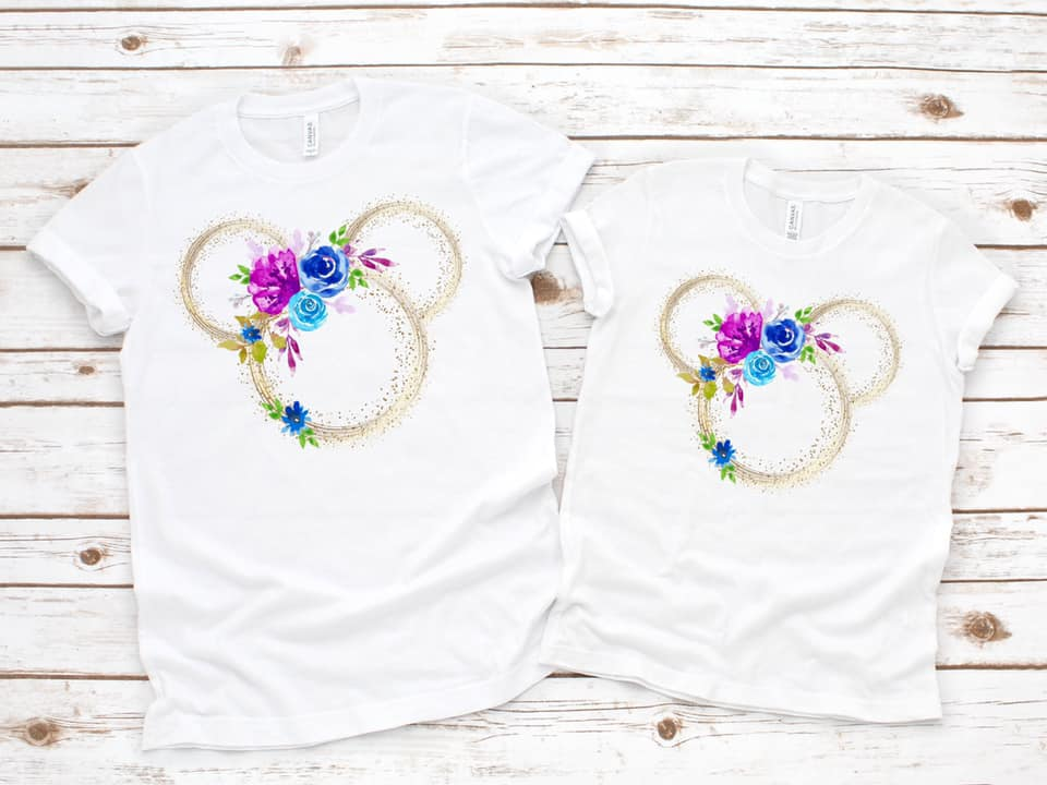 Magical Mickey Ears Mommy and Me Floral Tee