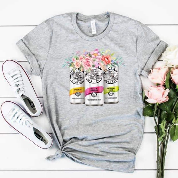 White Claw Floral Tee