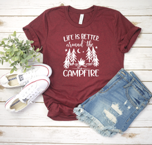 Load image into Gallery viewer, Life Is Better Around The Campfire Tee