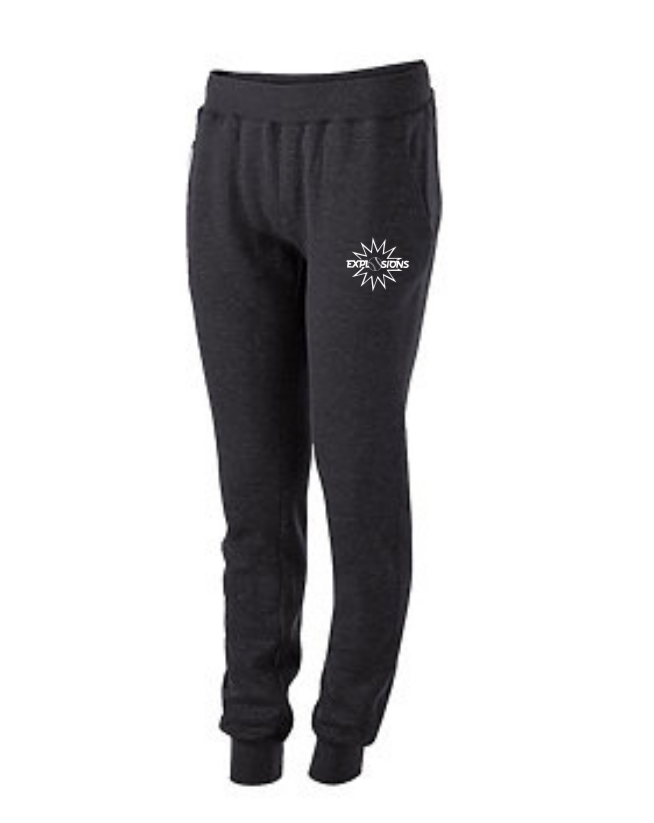 Ladies Carbon Heather Jogger Pants
