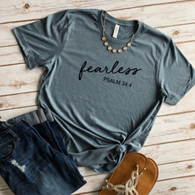 Load image into Gallery viewer, Fearless, Psalm 34:4 Tee
