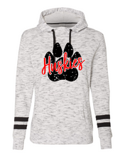 Load image into Gallery viewer, Huskies Paw Print Striped Sleeve Hoodie