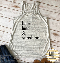Load image into Gallery viewer, Beer Lime and Sunshine Tank