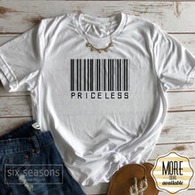 Load image into Gallery viewer, Priceless Bar Code Tee