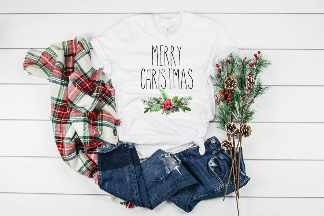 Rea Dunn Inspired Merry Christmas Tee