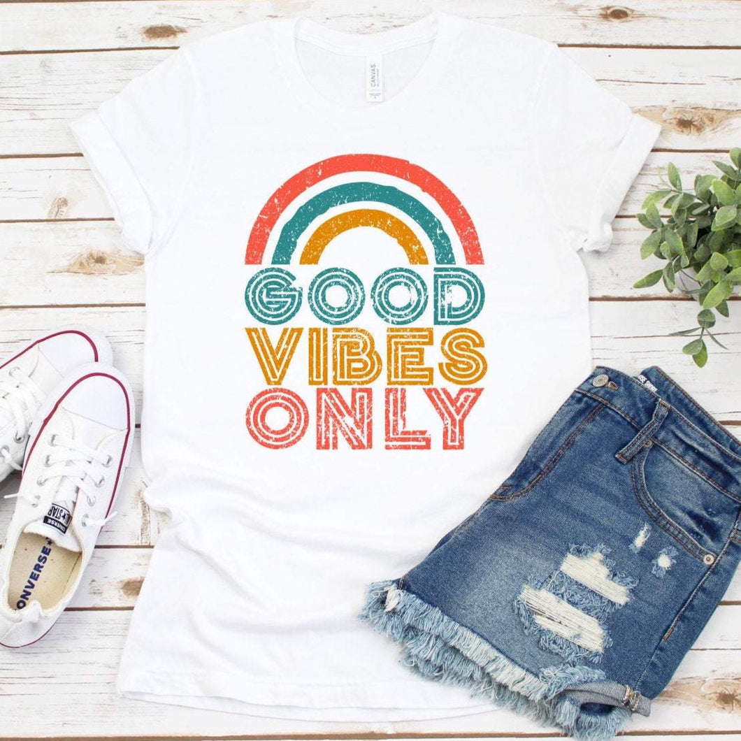 Good Vibes Only Rainbow Shirt