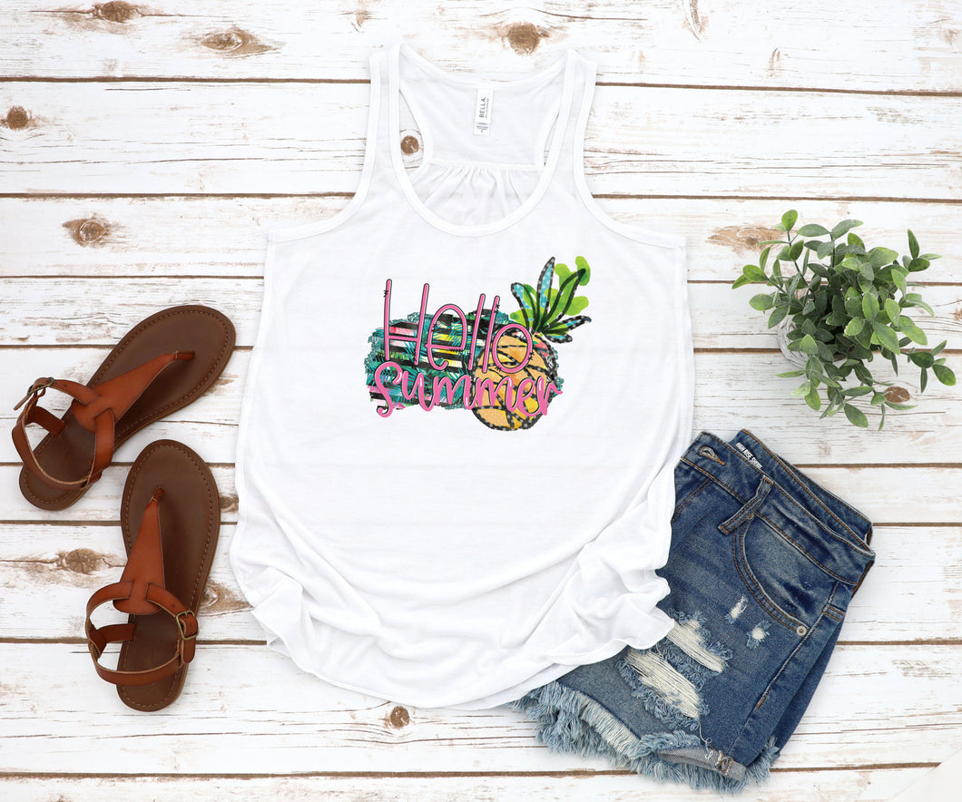 Hello Summer Pineapple Tank