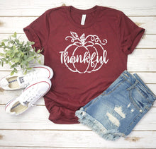 Load image into Gallery viewer, Distressed Thankful Pumpkin Tee
