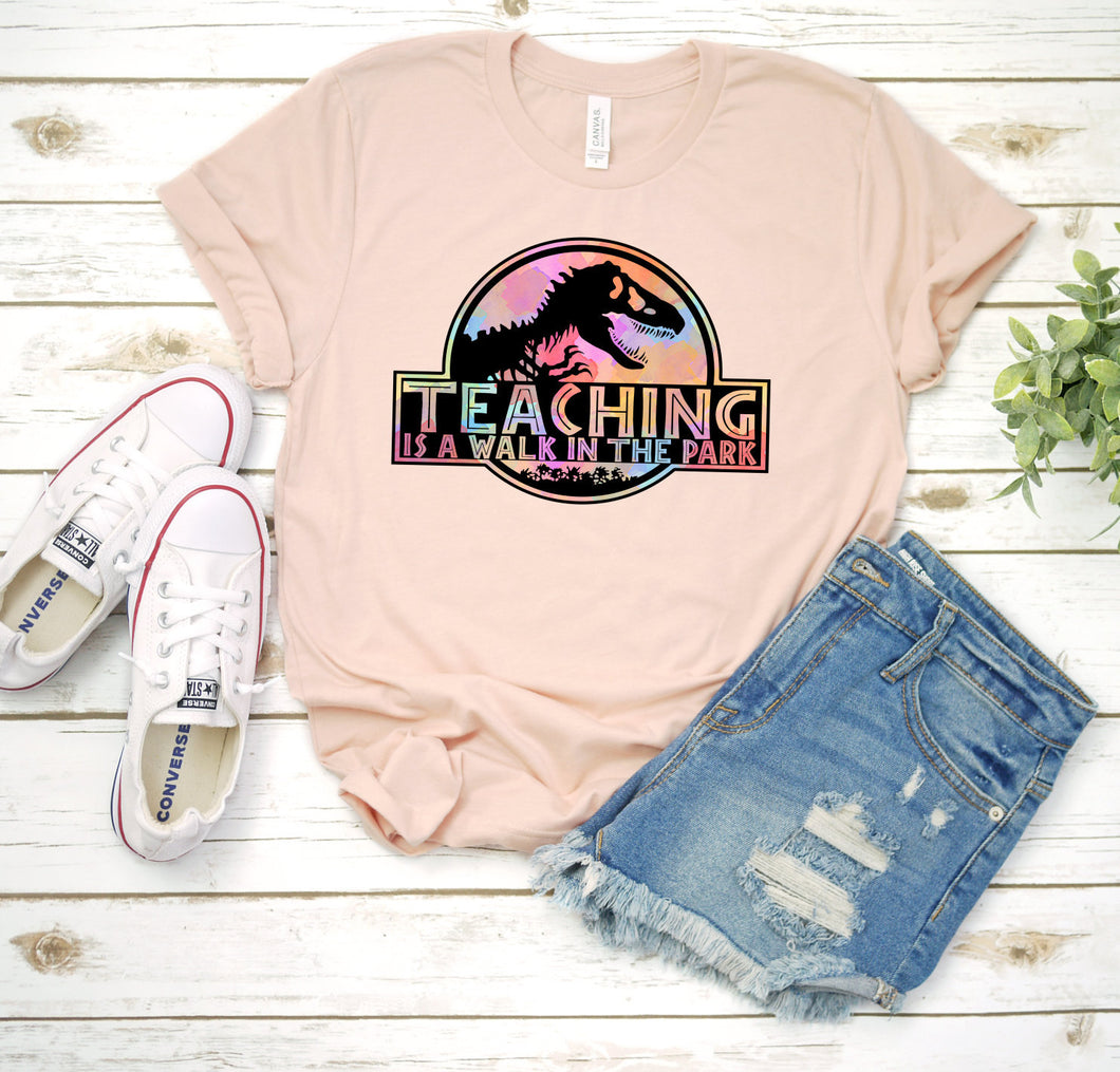 Teaching is a Walk In the Park, Jurassic Park Tee