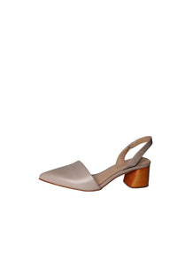 Antonio Melani, Leather upper, block heel, halter strap