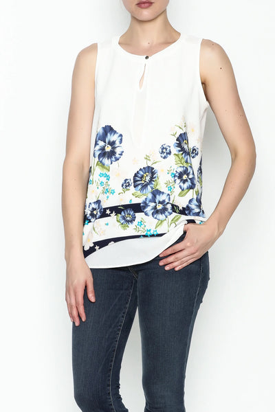 FLOWER PRINTED TOP