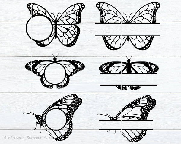 Butterfly Frame SVG- Butterfly Monogram SVG