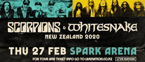 Scorpions and Whitesnake Thursday 27 Feb New Zealand 2020