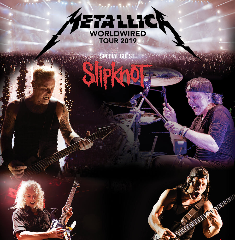 Metallica WorldWired Tour poster New Zealand