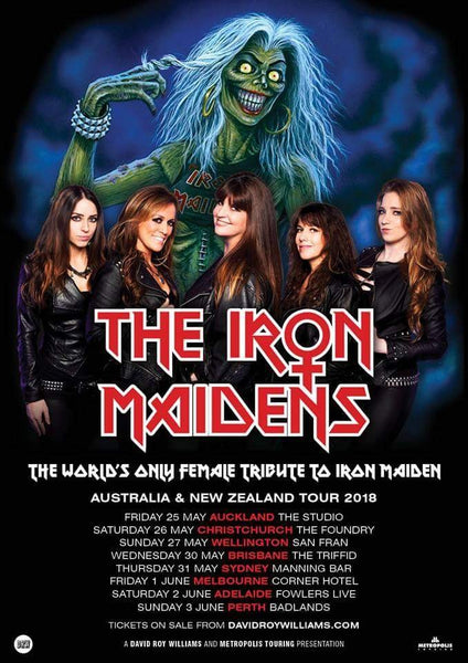 The Iron Maidens Tour Poster 2018 New Zealand