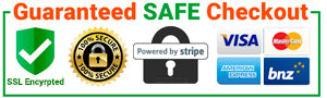 Guaranteed Safe Checkout and Secure Payment