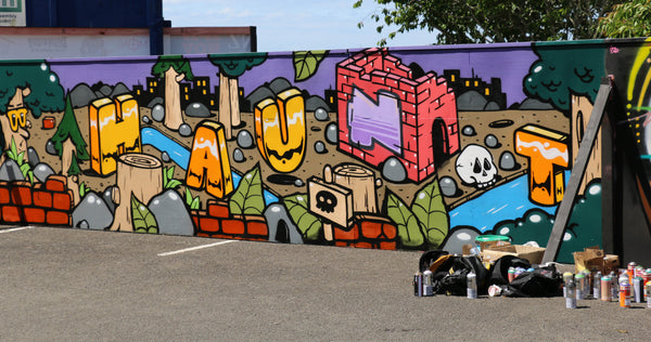 Graffiti Art Wall Finished