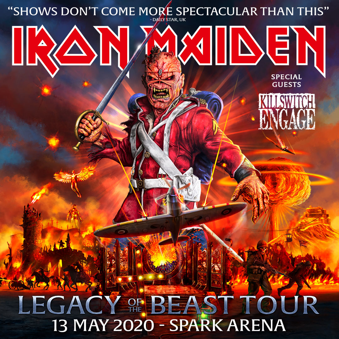 Iron Maiden Tour NZ Spark Arena 2020