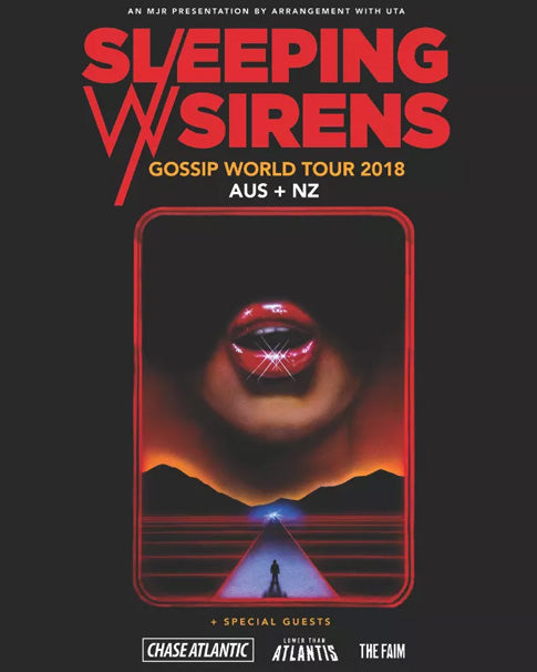 Sleeping With Sirens NZ Tour Poster 2018