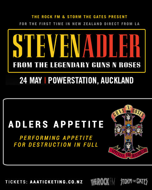 Steve Adler Appetite for Destruction NZ Tour May 2018 Tour Poster