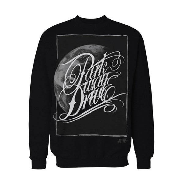 Atlas Black Crewneck Sweater - Twisted Thread Clothing