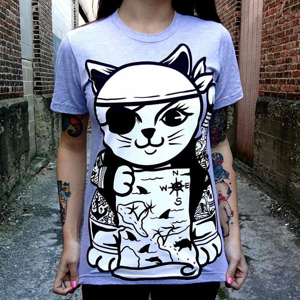 Sailor Kitten - Grey T-Shirt