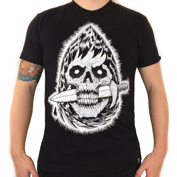 Fear The Reaper - Black Short Sleeve Tee - Twisted Thread Clothing