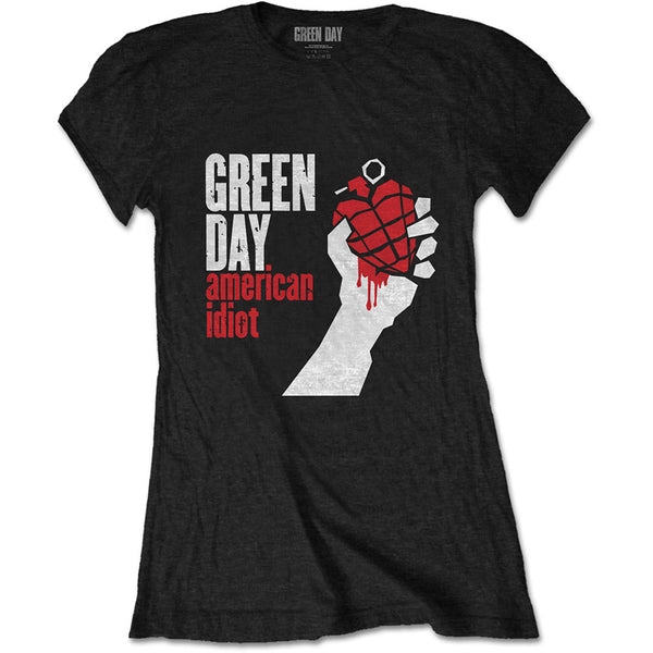 Green Day - American Idiot - Ladies Slim Fashion T-Shirt - Twisted Thread Clothing