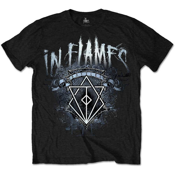 In Flames - Battle Crest - Mens T-Shirt - Twisted Thread Clothing