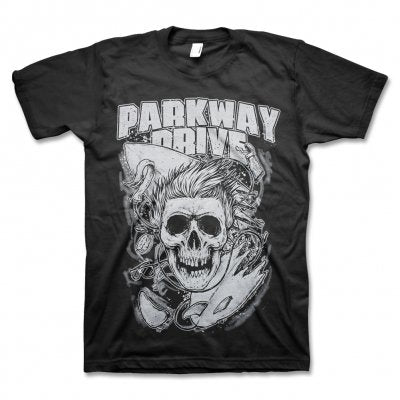 Parkway Drive - Surfer Skull - Black Mens T-Shirt - Twisted Thread Clothing