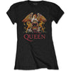 Queen Ladies Band T-Shirt - Classic Crest - Twisted Thread Clothing