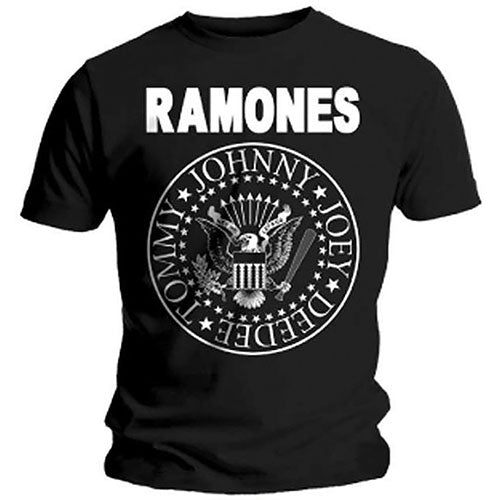 Ramones Presidential Seal - Mens Black T-shirt - Twisted Thread Clothing