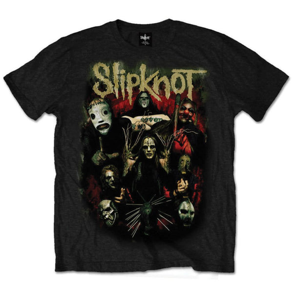 Slipknot - Come Play Dying - Mens Black T-Shirt (w/ Back Design)
