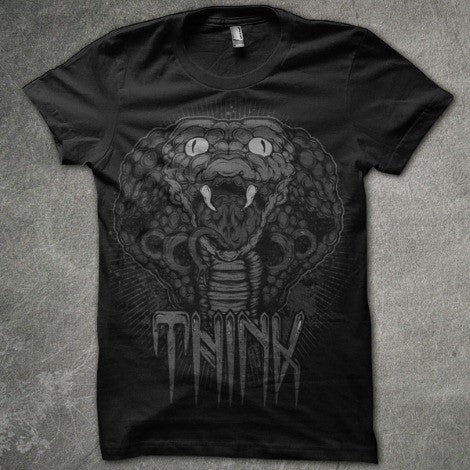 Cobra - Black Short Sleeve Tee - Twisted Thread Clothing