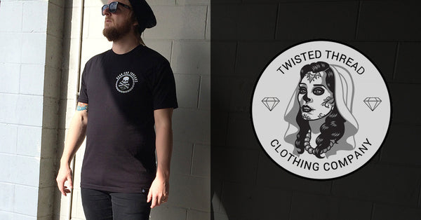 Damned and Broken - Black Tee - Twisted Thread Clothing
