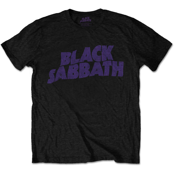 Black Sabbath Wavy Vintage Logo Mens T-Shirt