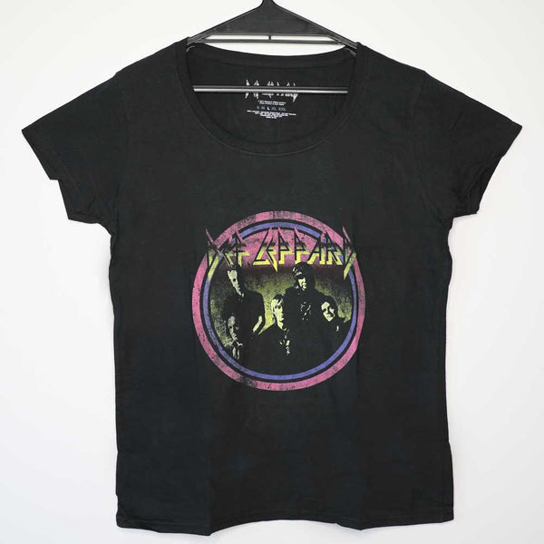 Def Leppard - Vintage Circle Design - Female - T-Shirt