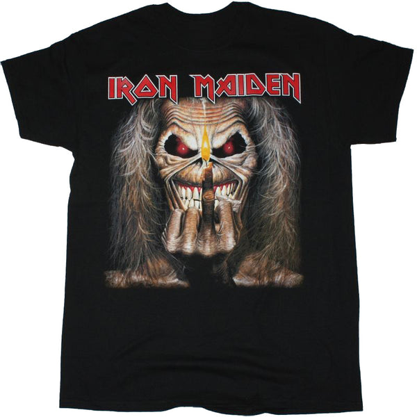 Iron Maiden - Candle Finger - Mens T-Shirt