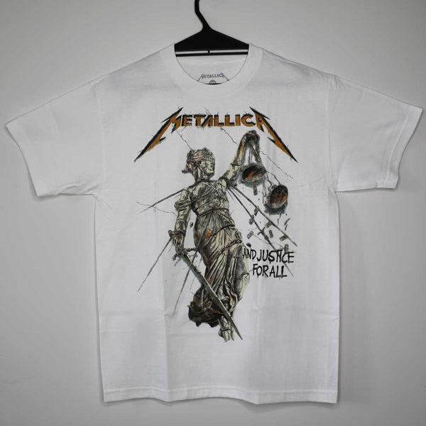 Metallica - Justice For All - Mens - White T-Shirt