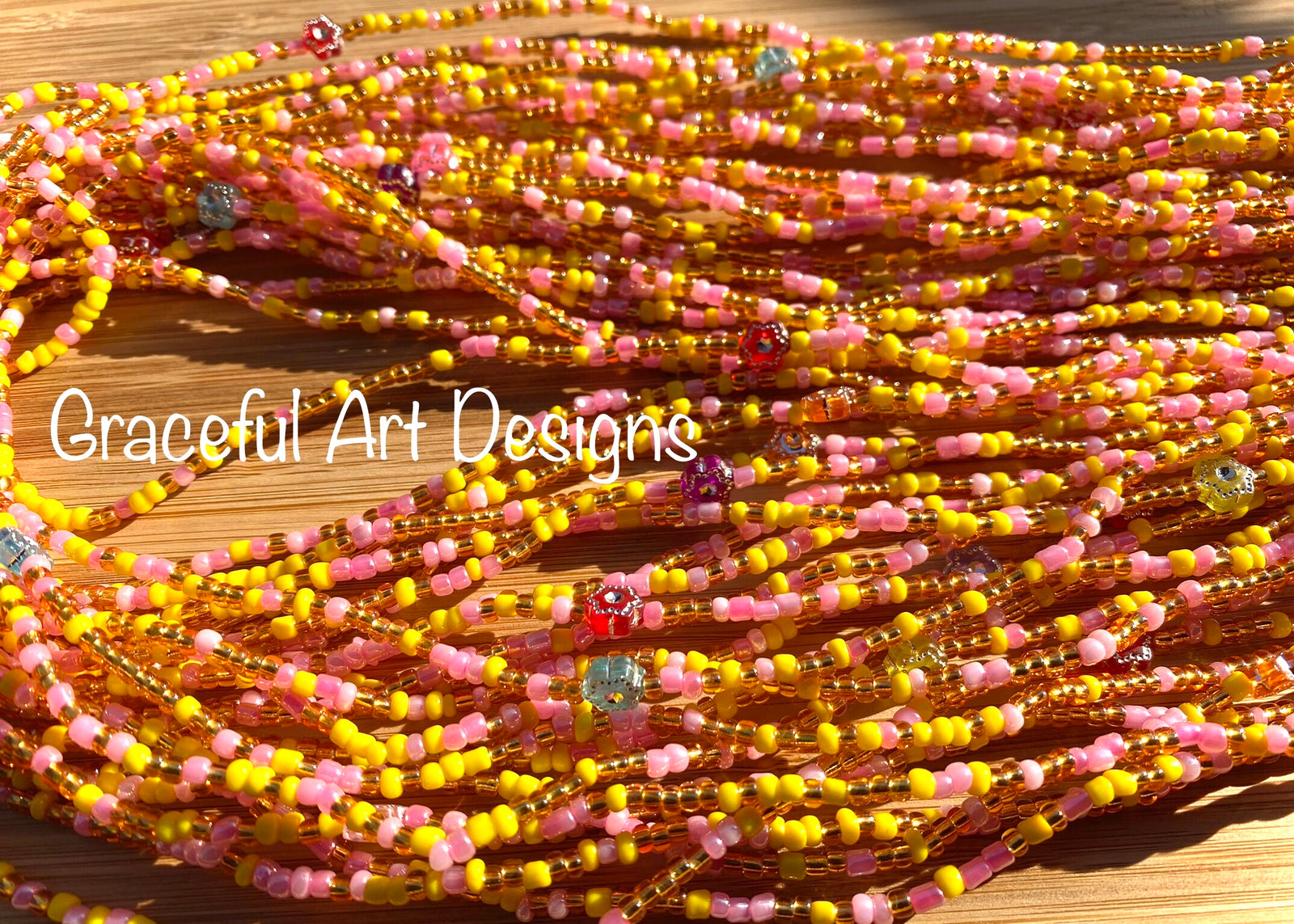 Handmade Waist Beads Tie on Traditional African Waist Beads Great for enhancing the waist or hips. Glow in the Dark Waist Beads Adore