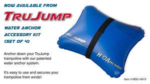 TruJump Water Anchor Accessory Kit Set of 4