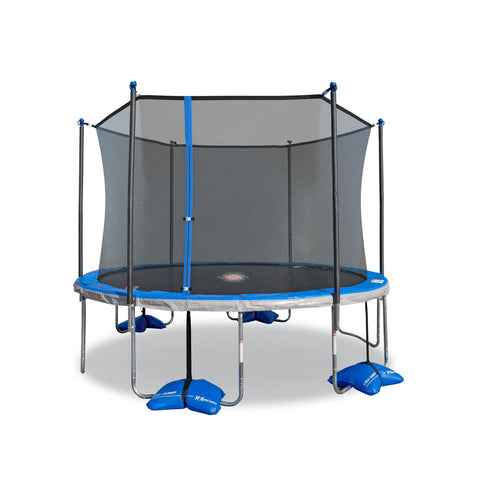 TruJump 12' Round Trampoline with with Water Anchors and  Spinner Flash LiteZone